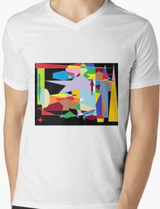 Abstract colour mix background Mens V-Neck T-Shirt