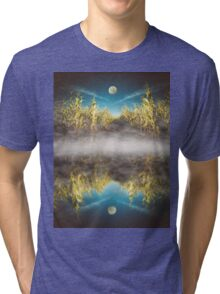 Moon Over Cornfield Tri-blend T-Shirt