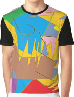 Full-color abstract scribble background Graphic T-Shirt
