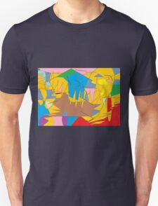 Full-color abstract scribble background Unisex T-Shirt