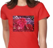 Vibrant Colored Hydrangeas Womens Fitted T-Shirt