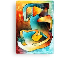 Sand Dance. Modern Abstract Art. Canvas Print