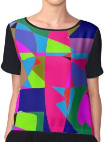 color abstract scribble background Chiffon Top