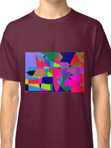 color abstract scribble background Classic T-Shirt
