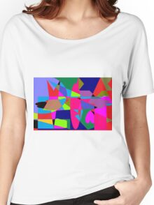 color abstract scribble background Women's Relaxed Fit T-Shirt