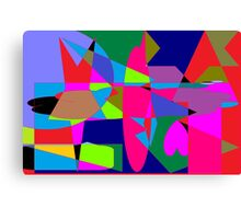 color abstract scribble background Canvas Print