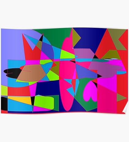 color abstract scribble background Poster