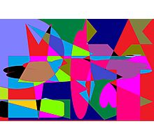color abstract scribble background Photographic Print