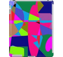 color abstract scribble background iPad Case/Skin