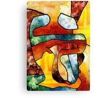 Embrace. Modern Abstract Art. Canvas Print