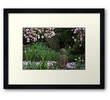 Buddha amongst the Rhododendrons (horizontal) Framed Print