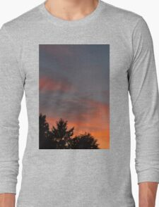 sunset at the countryside Long Sleeve T-Shirt