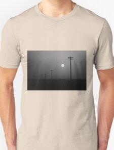 Melancholic Moon on our way to Yosemite Unisex T-Shirt