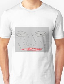 Worried and sad face Unisex T-Shirt