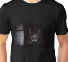 Twilight Cat with Sad Eyes, Portrait Unisex T-Shirt
