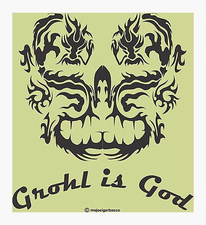 Grohl is God Photographic Print