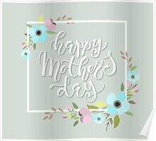 Happy Mother's Day Typography  Poster