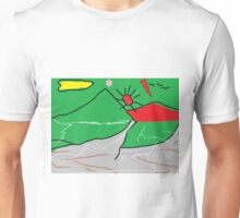 View of mountains landscape abstract Unisex T-Shirt