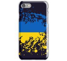 Ukraine Flag Ink Splatter iPhone Case/Skin