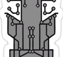 technology line connection microchip datentechnik electronics cool design robot cyborg pattern Sticker
