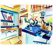 Abstract Interior #10 Poster