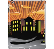 Sunset City and Road Silhouette iPad Case/Skin