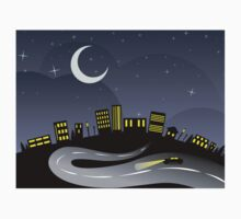 Night City and Road Baby Tee