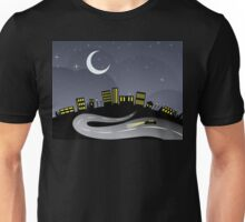 Night City and Road Unisex T-Shirt