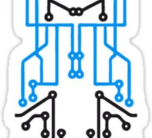 technology line connection microchip datentechnik electronics cool design robot cyborg Sticker