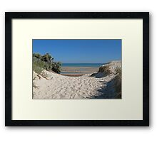 Dune Crossing Framed Print