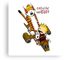 Calvin and Hobbes : Superjet Canvas Print