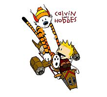 Calvin and Hobbes : Superjet Photographic Print