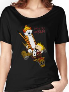 Calvin and Hobbes : Superjet Women's Relaxed Fit T-Shirt