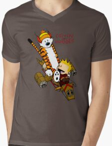 Calvin and Hobbes : Superjet Mens V-Neck T-Shirt