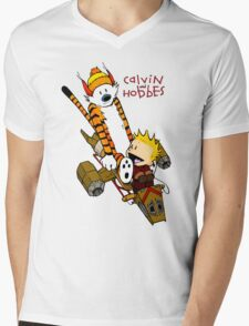 Calvin and Hobbes : Superjet Mens V-Neck T-Shirt