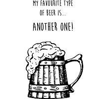 Favourite Beer Photographic Print