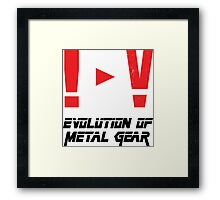Evolution of Metal Gear Framed Print