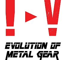 Evolution of Metal Gear Photographic Print
