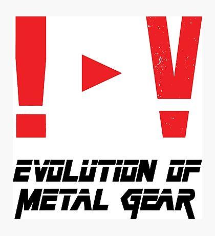 Evolution of Metal Gear Photographic Print