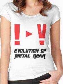 Evolution of Metal Gear Women's Fitted Scoop T-Shirt