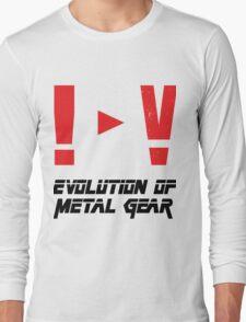 Evolution of Metal Gear Long Sleeve T-Shirt