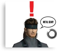 Metal Gear? Canvas Print