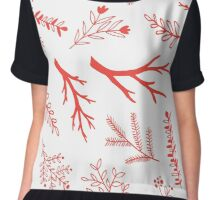 Red branches seamless pattern Chiffon Top