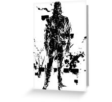 Big Boss MGS3 Greeting Card