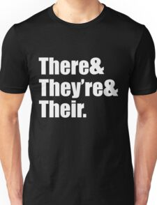 There They're and Their Funny Unisex T-Shirt