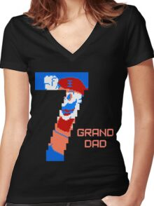 7 Grand Dad Women's Fitted V-Neck T-Shirt