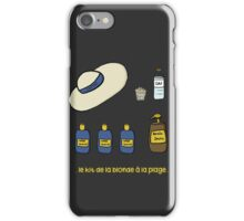 Blond on the beach iPhone Case/Skin