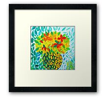 Abstract Bouquet in a Round Vase Framed Print