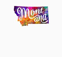 Montana US State in watercolor text cut out T-Shirt
