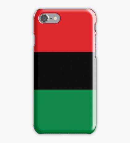 Pan African Flag T-Shirt - UNIA Flag Sticker - Afro American Flag iPhone Case/Skin